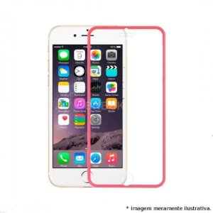 "PELICULA VIDRO IPHONE 6G PLUS ( 5.5"")  DIANTEIRA COM BORDA ROSA ( CURVA )"