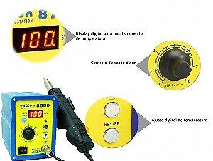 ESTAÇÃO DE RETRABALHO AR QUENTE YAXUN YX868D / YX-868D - 110V