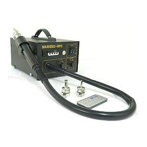 ESTAÇÃO DE RETRABALHO AR QUENTE M&R 850-MP3 - 220V / ESTAÇÃO 850 PRETA C/ TOCADOR MP3