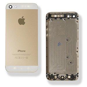 TAMPA TRASEIRA iPHONE 5G DOURADA ( TELA BRANCA ) /CARCAÇA iPHONE 5G