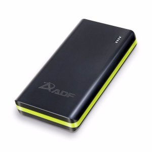 CARREGADOR PORTÁTIL POWER BANK ADF 21000mAh ORIGINAL - PRETO/VERDE