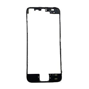 FRAME LCD/TOUCH iPHONE 5S PRETO (BENZEL) / ARO iPHONE 5S PRETO ( COM COLA DE FUSÃO )