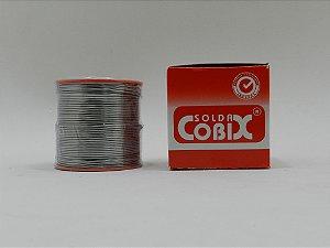 ESTANHO PARA SOLDA COBIX 1,0mm ( FIO CHEIO 63X37 ) - CARRETEL 500 GRAMAS ( 500gr ) CX VERMELHA