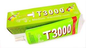 COLA PROFISSIONAL T3000 100Gr / T-3000 TUBO 110ML MEDIA VISCOSIDADE ( TRANSPARENTE )