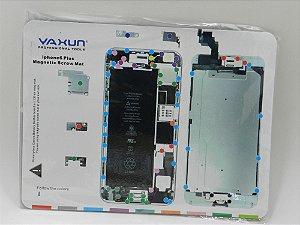"TAPETE MAGNETICO YAXUN PARA MANUTENÇÃO ( IMÃ ) DESENHO iPHONE 6 PLUS 5.5"" - 25X20CM"