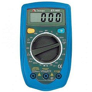 MULTÍMETRO DIGITAL MINIPA ET1400 / ET-1400 20MOHMS / TEMP.  DAT