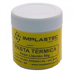 PASTA TÉRMICA BRANCA IMPLASTEC - POTE 50gr ( 50 GRAMAS )