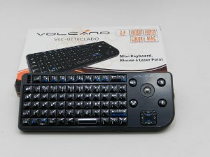TECLADO MINI KEYBOARD, MOUSE PAD E LASER POINT VOLCANO VLC - 01TECLADO