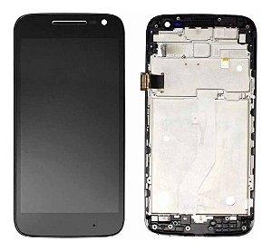 DISPLAY LCD MOTOROLA XT1600/XT1603 MOTO G4 PLAY COM ARO - PRETO