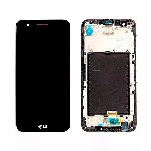 DISPLAY LCD LG M250 K10 2017 PRETO - COMPLETA  (COM ARO)