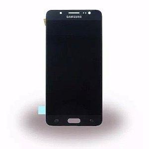 DISPLAY LCD SAMSUNG J510 GALAXY J5 METAL 2016 COMPLETO - CINZA GRAFITE / PRETO