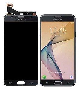 DISPLAY LCD SAMSUNG J7 PRIME /G610 GALAXY J7 PRIME COMPLETO - CINZA GRAFITE / PRETO