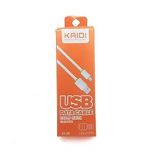 CABO RÁPIDO KAIDI 1 METRO MICRO USB - V8  (CARGA E DADOS) KD-305
