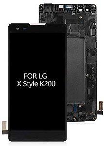 DISPLAY LCD LG K6 X STYLE K200 COM ARO PRETO