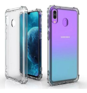 CAPA ANTI SHOCK PARA SAMSUNG GALAXY M20 - TRANSPARENTE