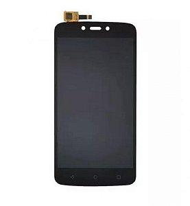 DISPLAY LCD MOTO C PLUS - XT1726 / DISPLAY MOTO C PLUS PRETO