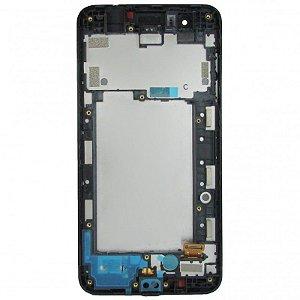 DISPLAY LCD LG K9 X210 PRETO COM ARO INCELL