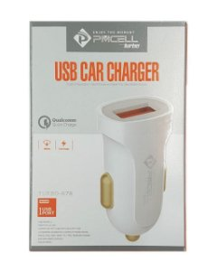 CARREGADOR VEICULAR TURBO PMCELL COM 1 USB 2.4A