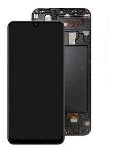 DISPLAY LCD SAMSUNG GALAXY A20 A205 - PADRÃO ORIGINAL COM ARO