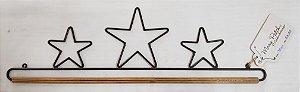 Três estrelas 65 cm varão de madeira