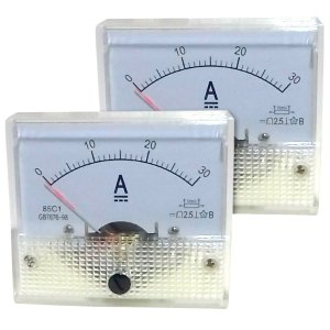 Par de Amperímetros Analógicos 30A DC SolarPro