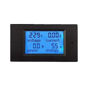 Medidor Digital 4x1 50A 100VDC - LCD