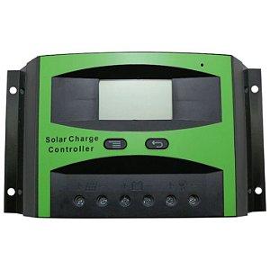 Controlador de Carga Solar 40A 12V/24V PWN Ysmart Tech - Com Display LCD