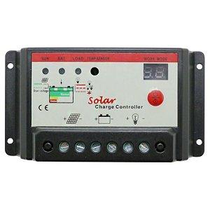 Controlador de Carga Solar 10A 12V/24V PWM Ysmart Tech 10l-ST