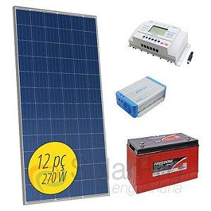 Gerador de Energia Solar OFF-Grid 3,12kW MPPT SunYoba - Sistema Isolado Completo
