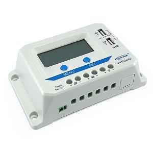 Controlador de Carga Solar 10A 12V/24V PWM Epever ViewStar VS1024AU - Com Display LCD