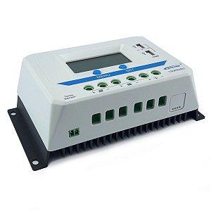 Controlador de Carga Solar 30A 12V/24V PWM Epever ViewStar VS3024AU - Com Display LCD