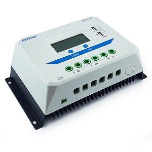 Controlador de Carga Solar 60A 12V/24V PWM Epever ViewStar VS6024AU - Com Display LCD
