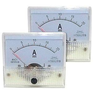 Par de Amperímetros Analógicos 20A DC SolarPro