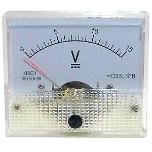 Voltímetro Analógico 15V DC SolarPro