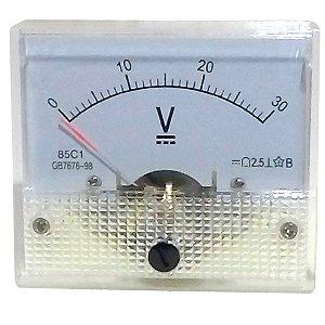 Voltímetro Analógico 30V DC SolarPro