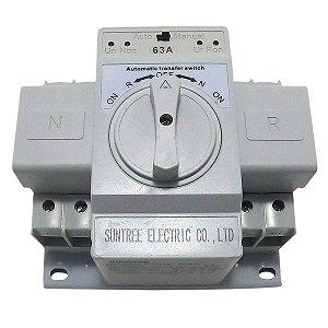 Chave de Transferência Automática Bipolar 63A 220V SUNTREE