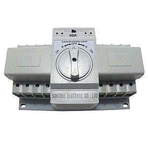 Chave de Transferência Automática 4 Polos 63A 220V SUNTREE