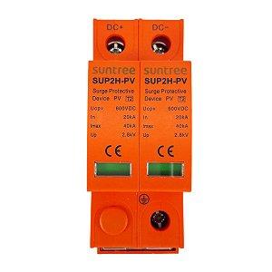 DPS Dispositivo de Proteção contra Surtos Bipolar 40kA 600V DC Suntree