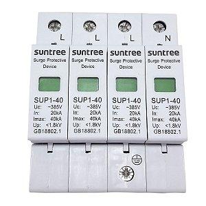DPS Dispositivo de Proteção contra Surtos 4 Polos 40kA 385V AC Suntree