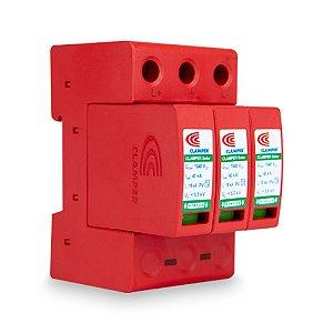 DPS Dispositivo de Proteção contra Surtos 3 Polos 40kA 1040VDC Clamper