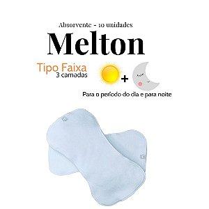 Kit Absorventes de Melton  - tipo faixa | 10 unidades