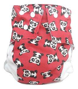 Fralda Ecológica Panda Vermelho