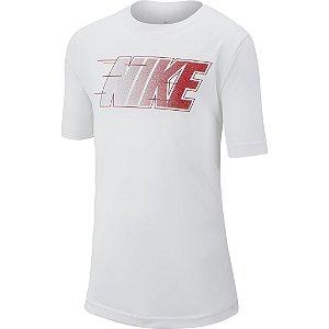 Camiseta Nike Menino Lettering Branca (INFANTIL)