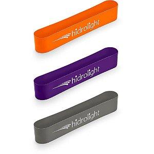 Kit de Faixas Elásticas Mini Band com 3 Intensidades Hidrolight para Exercícios Físicos