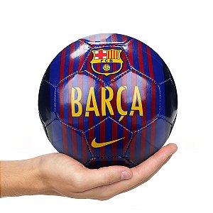 Mini Bola de Futebol Barcelona Nike - Azul e Dourado