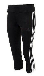 Adidas Mulheres D2M Pr 3S 3/4 treinamento calças justas Preto CE2048