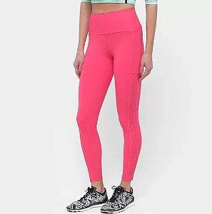 Calça Legging Alto Giro Up Co2 Laser Laterais Feminina - Pink