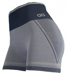 Shorts Alto Giro Sem Costura Grafite Estelar