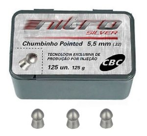 Chumbinho Cbc Pointed Nitro Silver 5.5mm 125un.