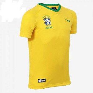 Camiseta Seleção Brasileira Infantil Nike Torcedor 1 Aa2886-749 Amarelo